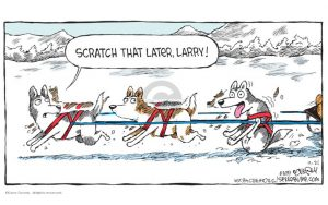 A snippet of a comic about dog sled | The Dog Sled Driver